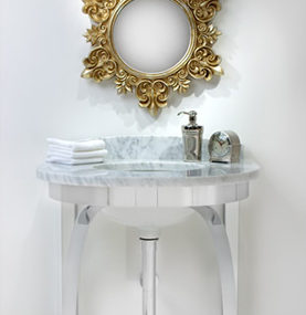 Modern Bathroom Console by Payma – CaesarStone and marble top washstands
