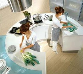 Artika and Integra Round Kitchens from Pedini – the trend is now