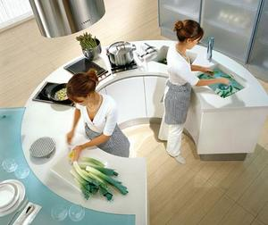 pedini artika kitchen round island thumb Artika and Integra Round Kitchens from Pedini   the trend is now