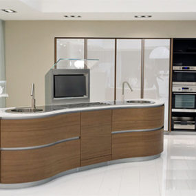 Pedini Kitchen – new ergonomic, curvy Dune kitchen