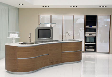 pedini dune kitchen 2 Pedini Kitchen   new ergonomic, curvy Dune kitchen