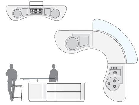 pedini dune kitchen layout