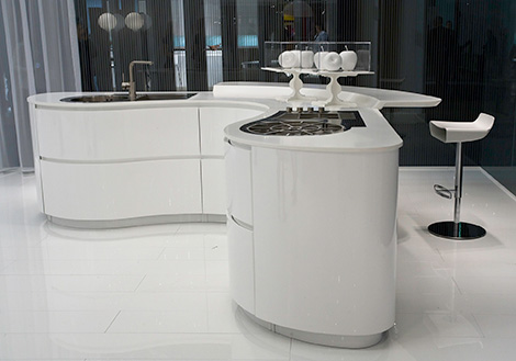 Pedini Kitchen   New Ergonomic, Curvy Dune Kitchen
