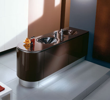 pedini fashion bathroom brown Bathroom Vanities Trend 2007   the European Contemporary vanity style is in!
