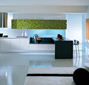 Pedini Q2 Kitchen – new Q2System kitchen: glass and wood decor