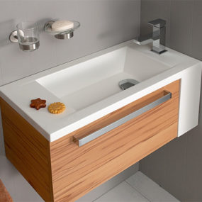 Oasis Compact Bath Vanity by Pelipal for small bathrooms