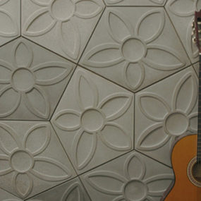 Pentagon Tiles by Ogassian – ultra contemporary and 3d