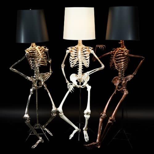 Oh, Them Bones! Life Size Philippe Lamp by Zia Priven is to Die For!