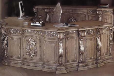 Merveilleux Phyllis Morris Florentine Du Barry Desk Credenza