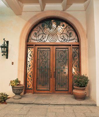 pinecrest hand wrought iron door Hand Wrought Iron Door by Pinecrest   the Manorgate fine door collection