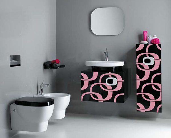 pink bathroom ideas laufen 7