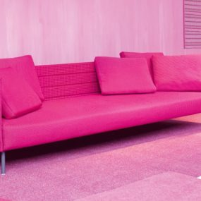 Pink Patio Sofa from Luminaire