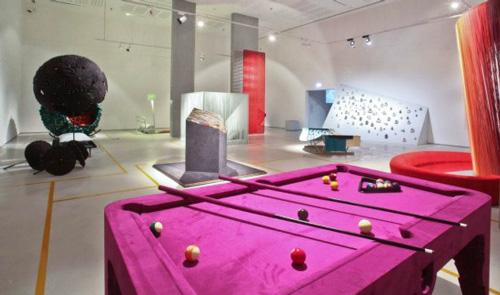 pink pool table marcel wanders alcantara 1 Pink Pool Table by Marcel Wanders   Alcantara