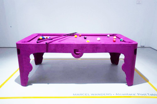 Pink Pool Table by Marcel Wanders - Alcantara