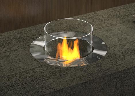 Planika fireplace detail