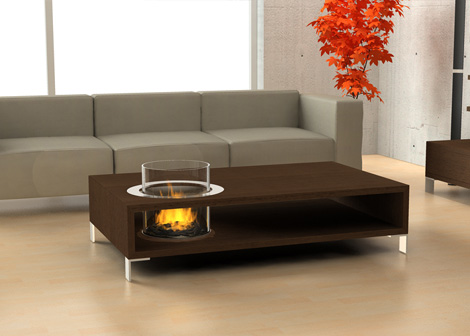 Planika fireplace - coffee table insert