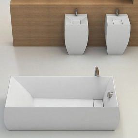 Square Bathroom Suites by Planit – new Duna suite