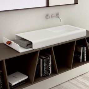 Cool Sink Design by Planit combines storage and washbasin