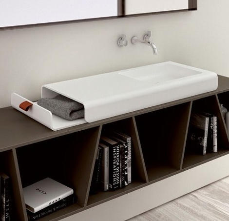 planit washbasin split 1 Cool Sink Design by Planit combines storage and washbasin