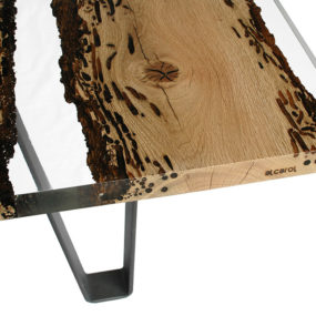 Poetic Dining Table Made of Briccola Wood