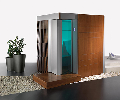 polisem sauna katharsys blue Home Sauna from Spas Wellness   a sensational all in one sauna!