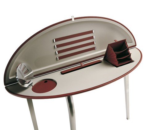 poltronafrau small makeup table feluca 3 Small Makeup Table Feluca   modern makeup tables by Poltrona Frau