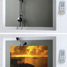 Waterproof Mirror TV TileVision from Porter Lancastrian Ltd – the bathroom television