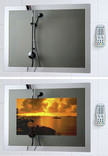 porter lancastrian tilevision Waterproof Mirror TV TileVision from Porter Lancastrian Ltd   the bathroom television