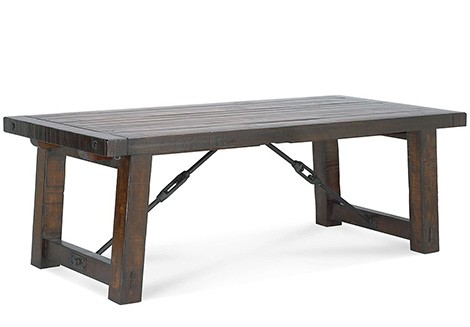 Distressed Wood Gives This Dining Table An Industrial Style