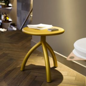 Practical Anodized Aluminum Stool / End-table from Functionals