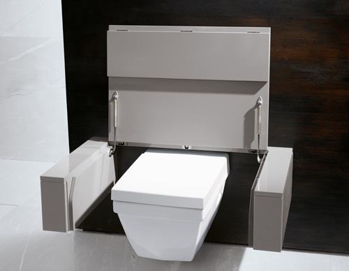 practical bathroom solution burgbad toilet 2 Practical Bathroom Solutions by Burgbad   toilet converts into ...?