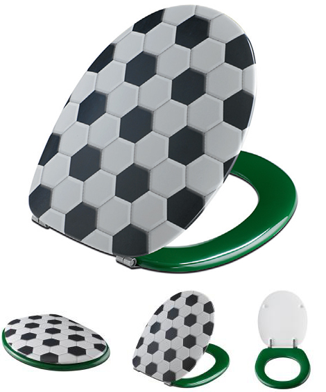 pressalit toilet seat cover football
