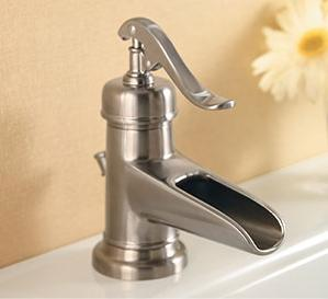price pfister bathroom faucet. New Ashfield waterfall faucet from Price Pfister  vintage decor