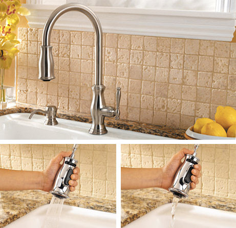 New Price Pfister kitchen faucet - the Hanover traditional pull-down ...