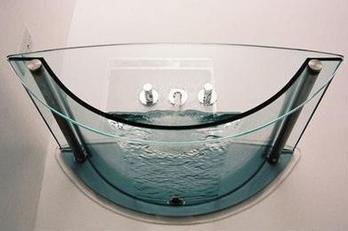 prizma glass sink Glass Bathroom fixtures by Prizma   the transparent bathroom