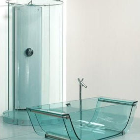 Glass Bathroom fixtures by Prizma – the transparent bathroom