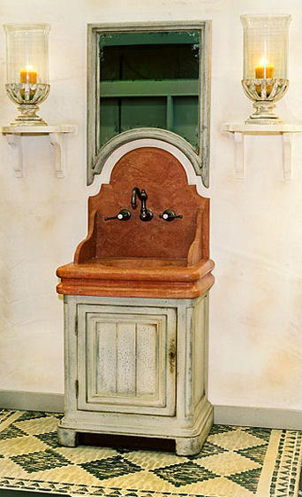 French Country Style Bath Vanity from Provence Et Fils – the Chenonceaux Bathroom