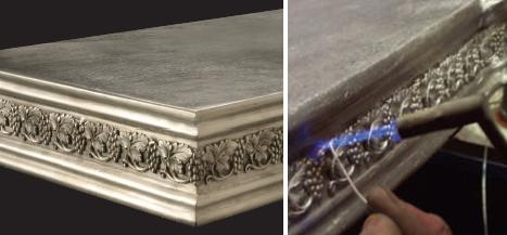 purcellmurray french pewter countertops French Pewter Countertops by Purcell Murray   hand made metal countertops
