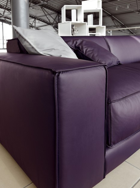 Purple Leather Sofa DitreItalia Blob Detail