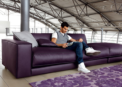 Genial Purple Leather Sofa DitreItalia Blob Purple Leather Sofa By Ditre Italia  Blob Oversized