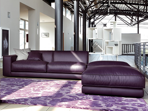 Attrayant Purple Leather Sofa DitreItalia Blob1 Purple Leather Sofa By Ditre Italia  Blob Oversized