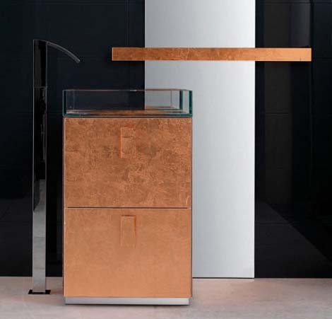 qin self standing sink block up 1 Self Standing Sink by Qin   Block Up designer glass sinks