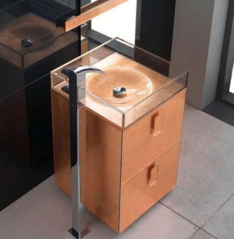 qin self standing sink block up 3 Self Standing Sink by Qin   Block Up designer glass sinks