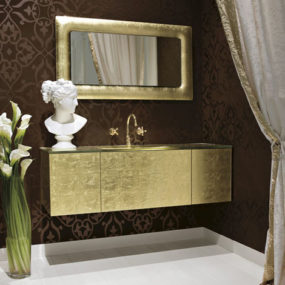 Luxe Rectangular Gold Vanity Persempre from Qin