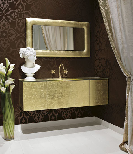qin vanity persempre Luxe Rectangular Gold Vanity Persempre from Qin