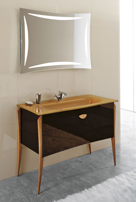 qin vanity soft Free standing Vanity Soft from Qin for classic modern bathroom