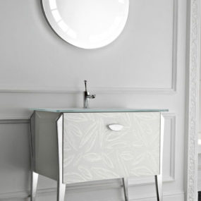 Free-standing Vanity Soft from Qin for classic modern bathroom