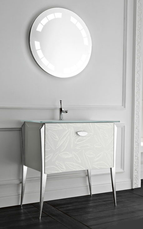 qin vanity soft1 Free standing Vanity Soft from Qin for classic modern bathroom