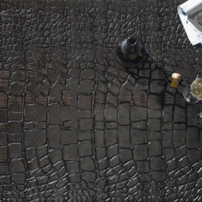 Wood Flooring Design Ideas – leather-like floor design 'Crocodile Skin' by QuadroLegno