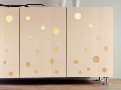 Quartodiluna Polka Dots cupboard - details